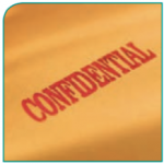 Confidential means that the information is kept private. We will also ask you if it is ok to share and get information from others.
